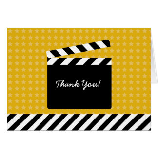 Movie Clapboard Thank You Card
