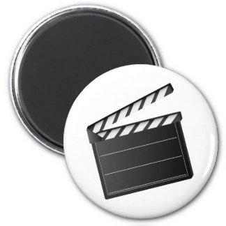 Movie Clapper 2 Inch Round Magnet