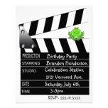 Movie Clapper Birthday Party Invitation