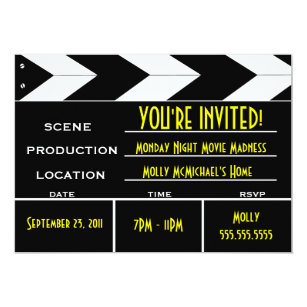 Movie Premiere Invitations Zazzle