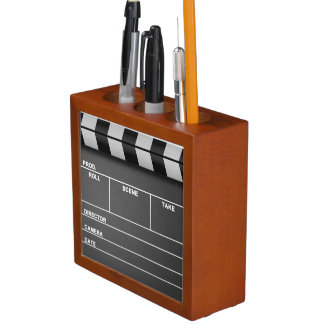 Movie Clapper Board Desk Organizer