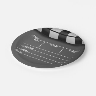 Movie Clapper Board Paper Plates