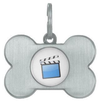 Movie Clapper Board Pet ID Tag