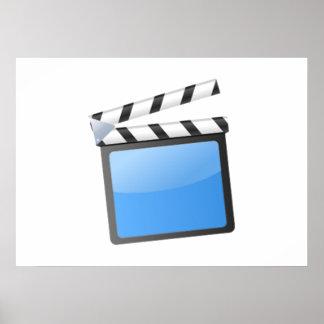 Movie Clapper Board Print