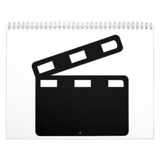 Movie clapper cinema calendar