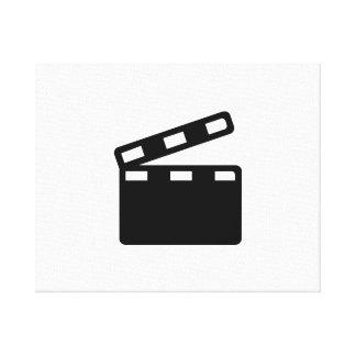 Movie clapper cinema gallery wrap canvas
