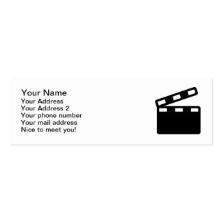 Movie clapper cinema Double-Sided mini business cards (Pack of 20)