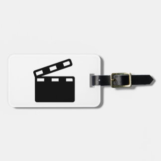 Movie clapper cinema tags for bags