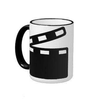 Movie clapper cinema ringer coffee mug