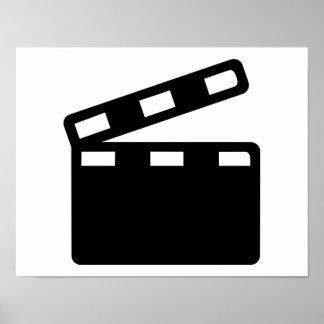 Movie clapper cinema posters