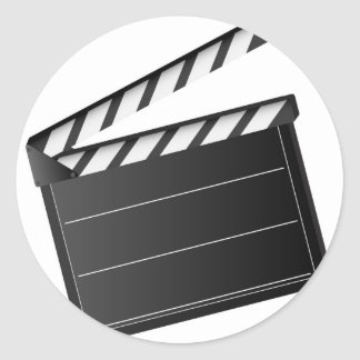 Movie Clapper Classic Round Sticker