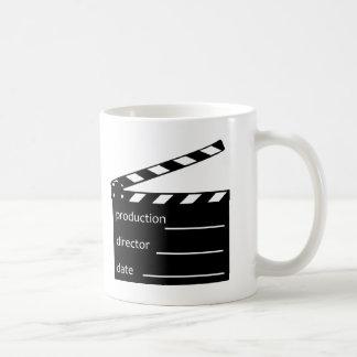 Movie clapper coffee mug