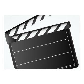 Movie Clapper 5x7 Paper Invitation Card