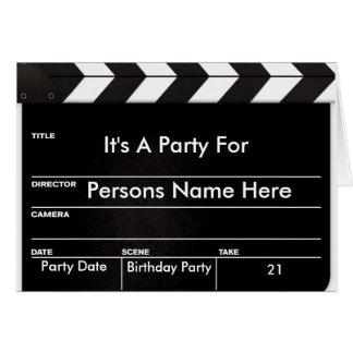 Movie Clapper Invitation Greeting Card