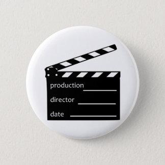 Movie clapper pinback button