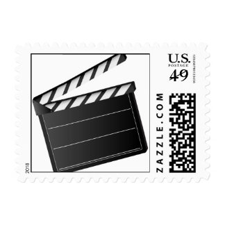 Movie Clapper Postage Stamp