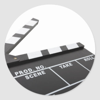 movie clapperboard, action! stickers