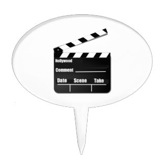 Movie Clapperboard Cake Topper