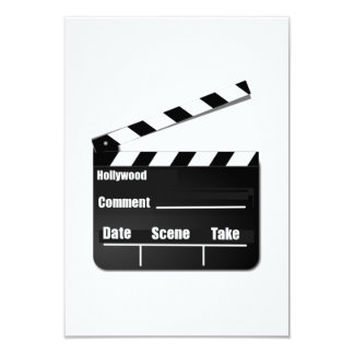 Movie Clapperboard Card