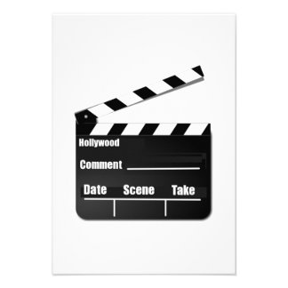 Movie Clapperboard Announcements