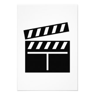 Movie Clapperboard Announcement