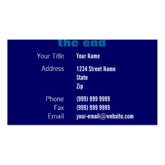 Movie Credits (blue) Double-Sided Standard Business Cards (Pack Of 100)