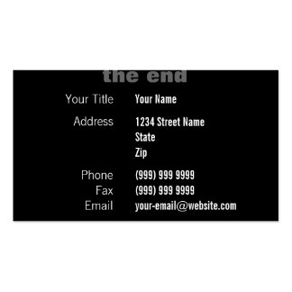 Movie Credits Business Cards
