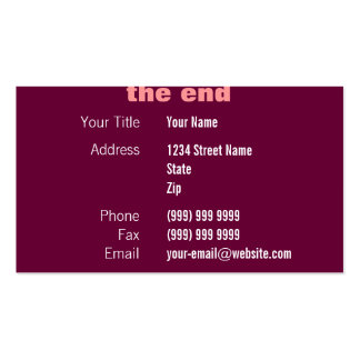 Movie Credits Business Card