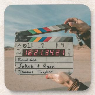 Movie Director Clap Film Cinema Camera Drink Coaster