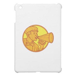 Movie Director Megaphone Vintage Circle Mono Line iPad Mini Cover