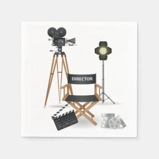 Movie Director Set Paper Napkins