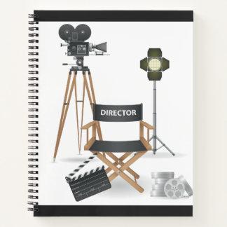 Movie Director Set Spiral Notebook