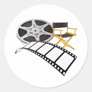 movie equipments classic round sticker