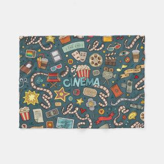 Movie Fan Cinema Theater Design Fleece Blanket