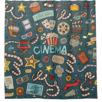 Movie Fan Cinema Theater Design Shower Curtain