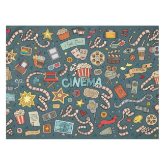 Movie Fan Cinema Theater Design Tablecloth
