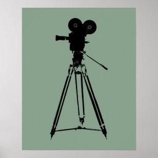 Movie Film Camera Pop Art Poster