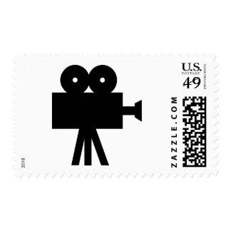 Movie Film Cine Camera Hollywood Postage Stamp