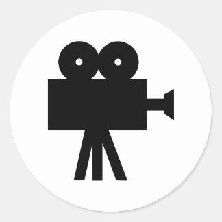 Movie Film Cine Camera Hollywood Round Sticker