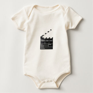 movie film clapperboard baby bodysuit