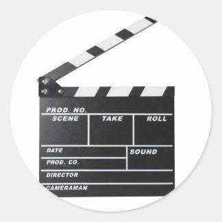 movie film clapperboard round stickers