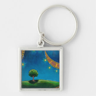 Movie film photography art fun landscape painting Silver-Colored square keychain