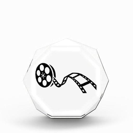 Movie film reel acrylic award