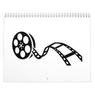 Movie film reel calendar