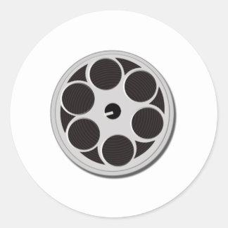 Movie Film Reel Classic Round Sticker