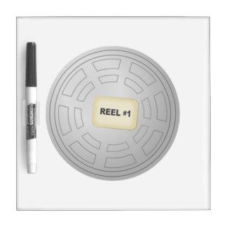 Movie Film Reel Dry Erase White Board