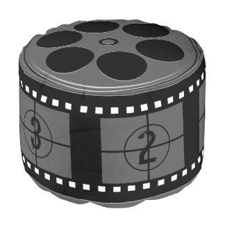 Movie Film Reel Pouf
