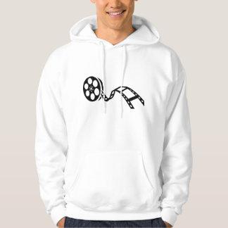 Movie film reel pullover