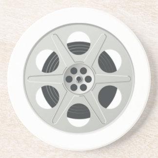 Movie Film Reel Sandstone Coaster