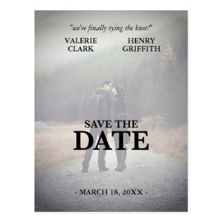 Movie Film Save The Date Photo Postcard